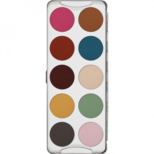 Kryolan Eye Shadow Palette - 10 Shades